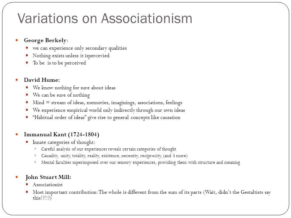 Variations on Associationism