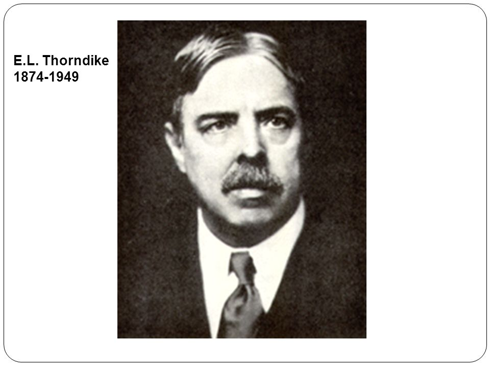 E.L. Thorndike 1874-1949