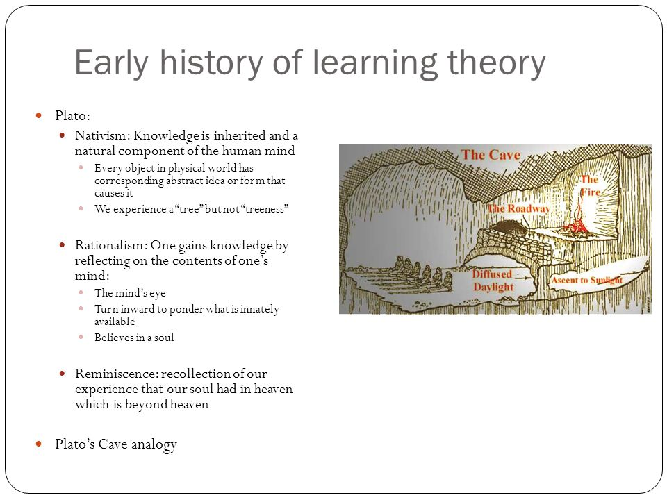 Early history of learning theory