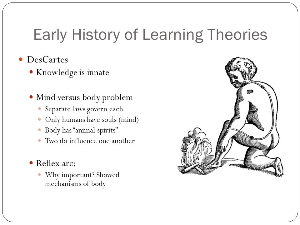 Early History of Learning Theories