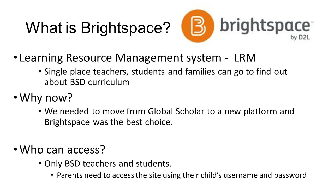 What is Brightspace Learning Resource Management system - LRM