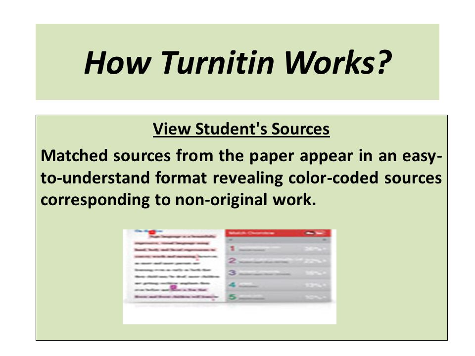 How Turnitin Works View Student s Sources