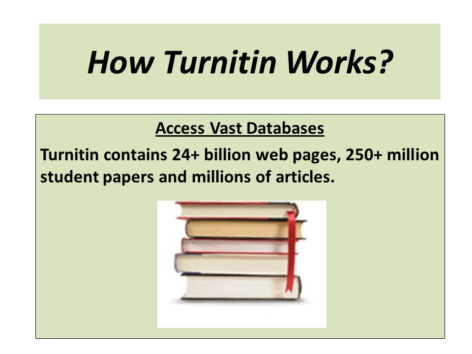 How Turnitin Works Access Vast Databases