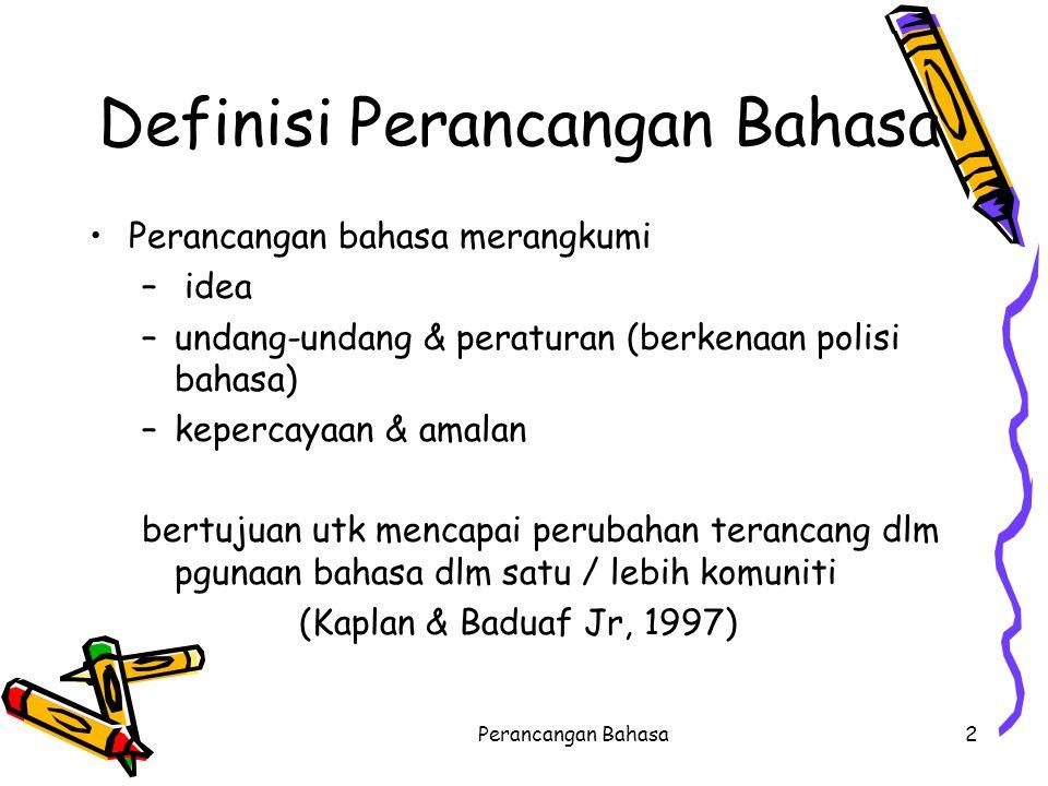 Definisi Perancangan Bahasa