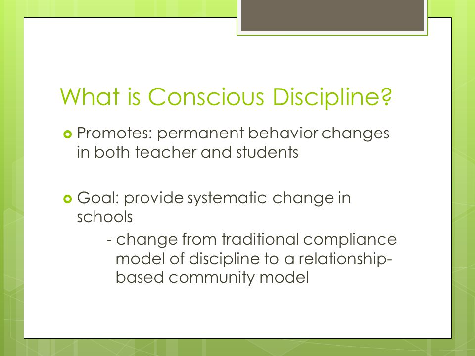What is Conscious Discipline