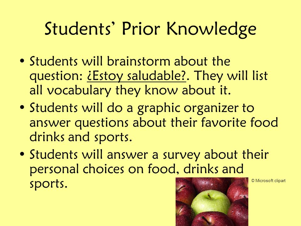 Students' Prior Knowledge
