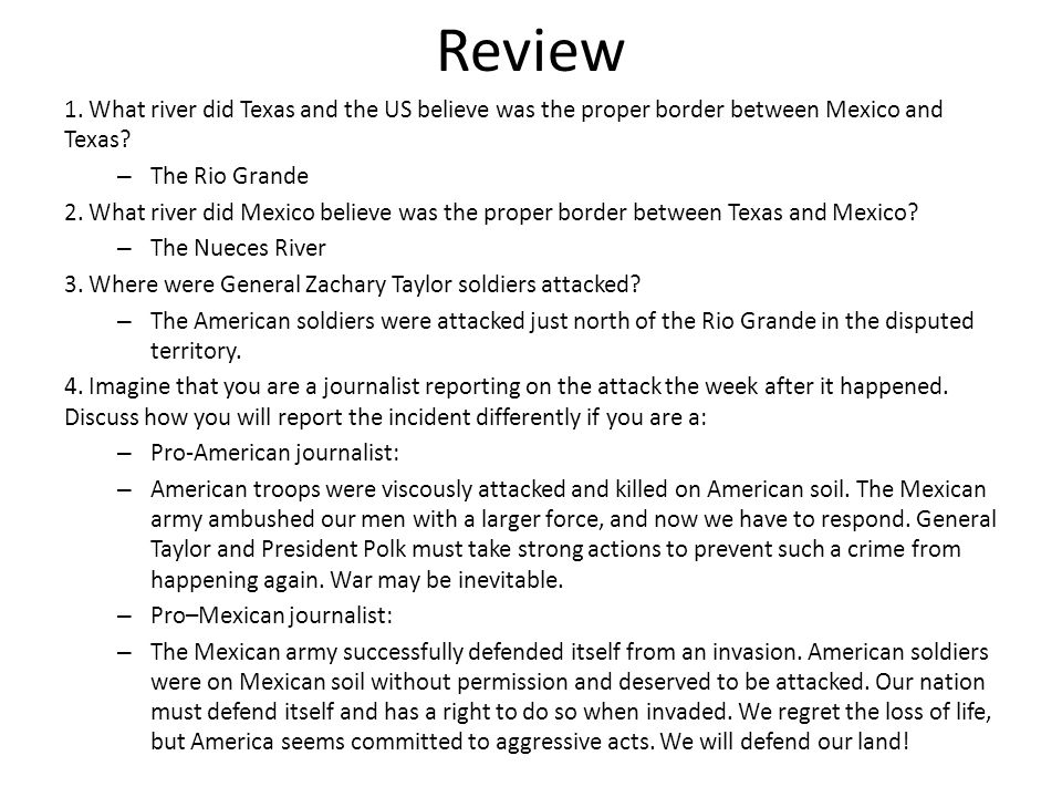 Mexican american war mini q essay