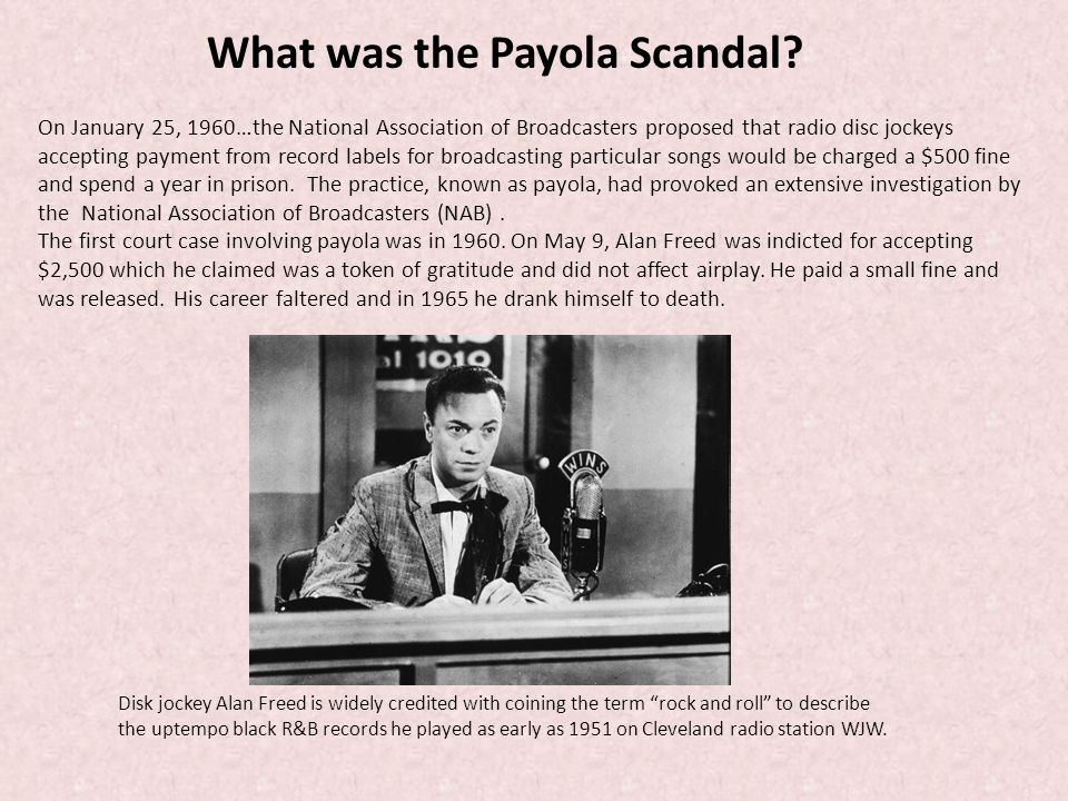 What was the Payola Scandal