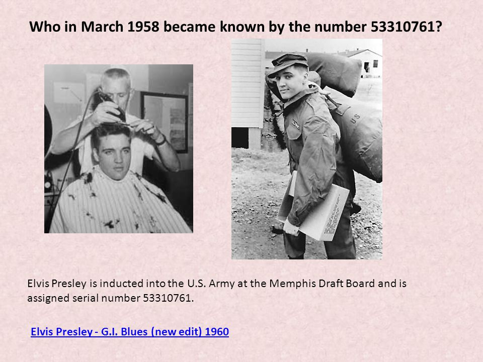 Who in March 1958 became known by the number 53310761