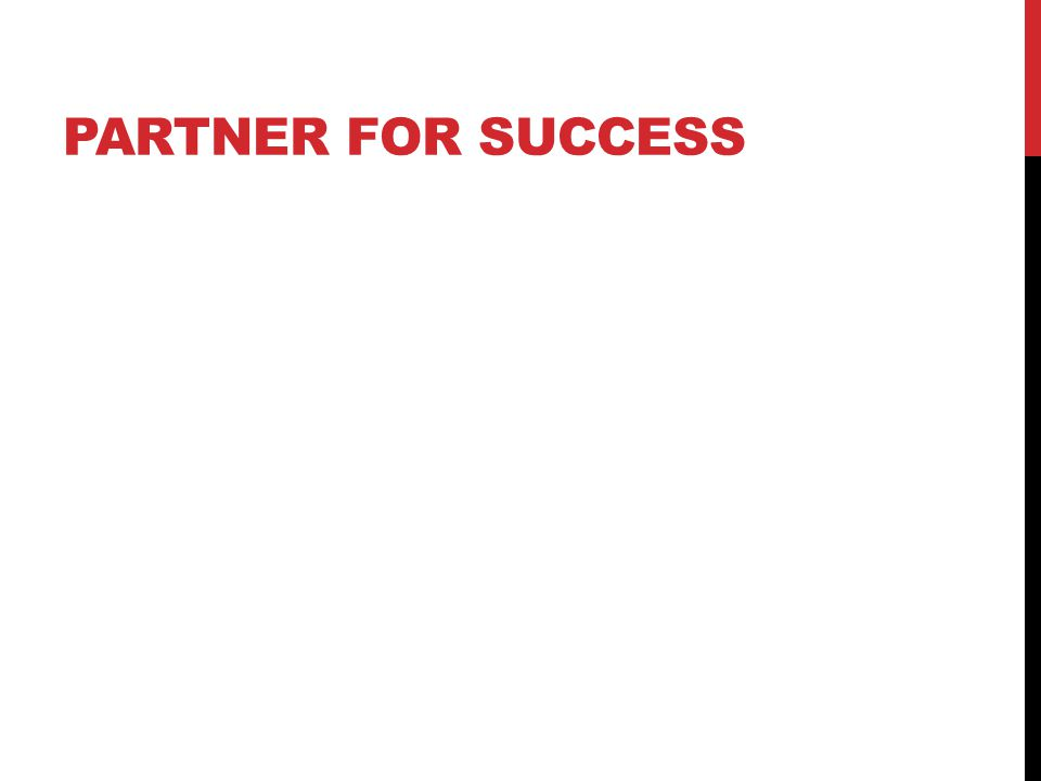 Partner for success