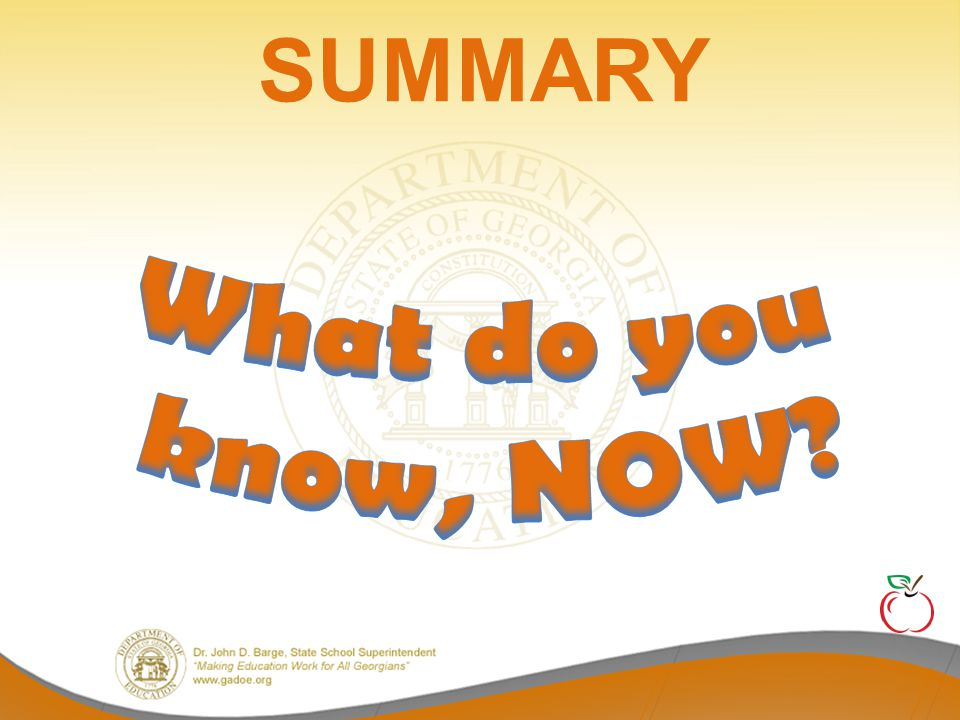 What do you know, NOW SUMMARY