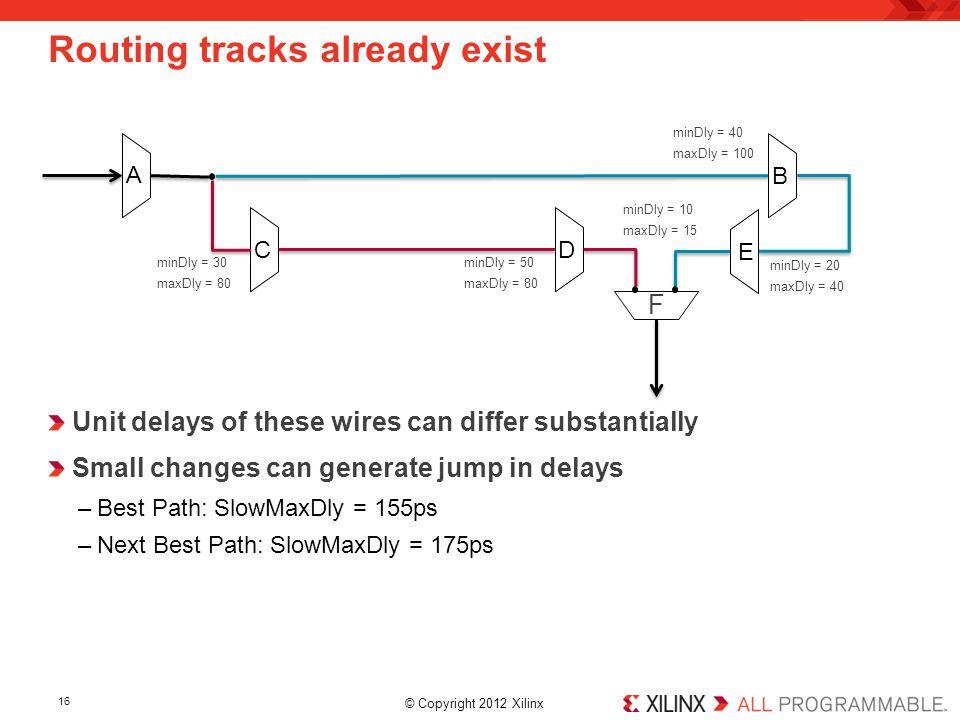 Routing tracks already exist