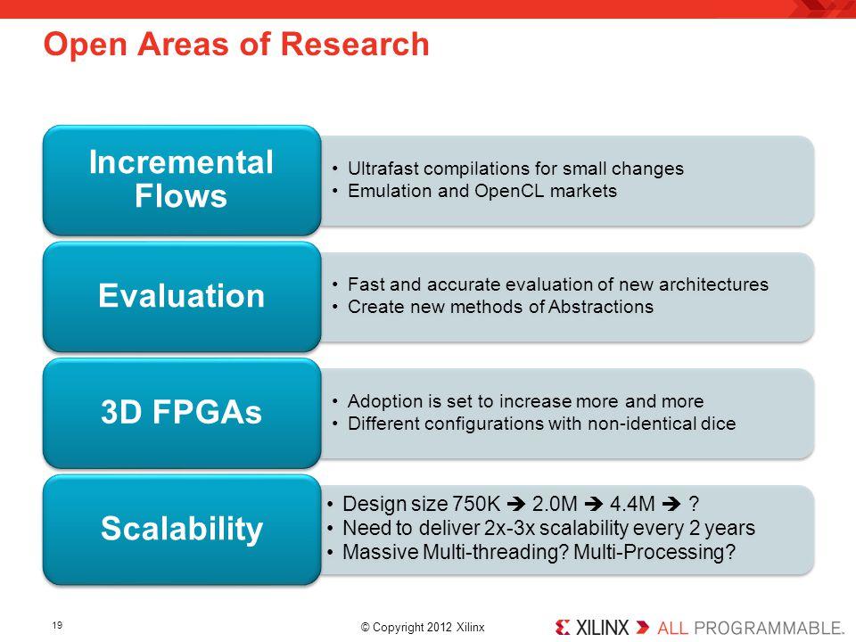 Incremental Flows Evaluation 3D FPGAs Scalability
