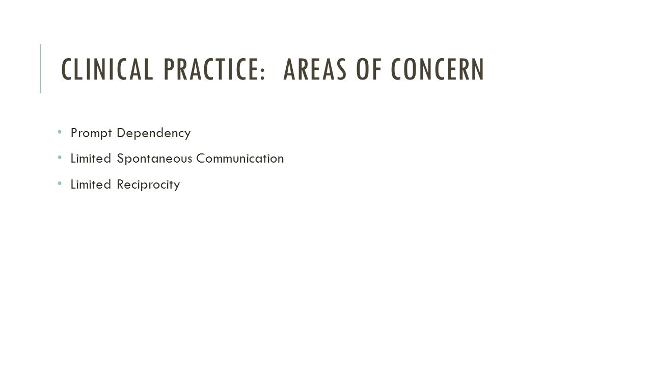 Clinical Practice: Areas of concern