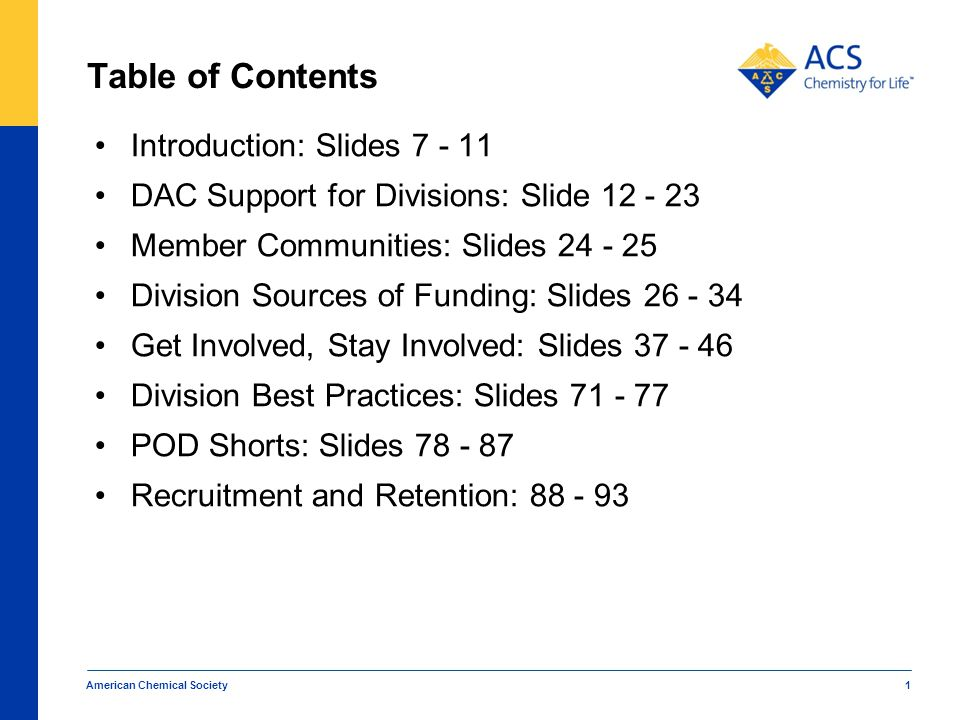 Table of Contents Introduction: Slides 7 - 11