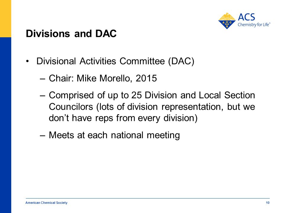 Divisions and DAC Divisional Activities Committee (DAC)