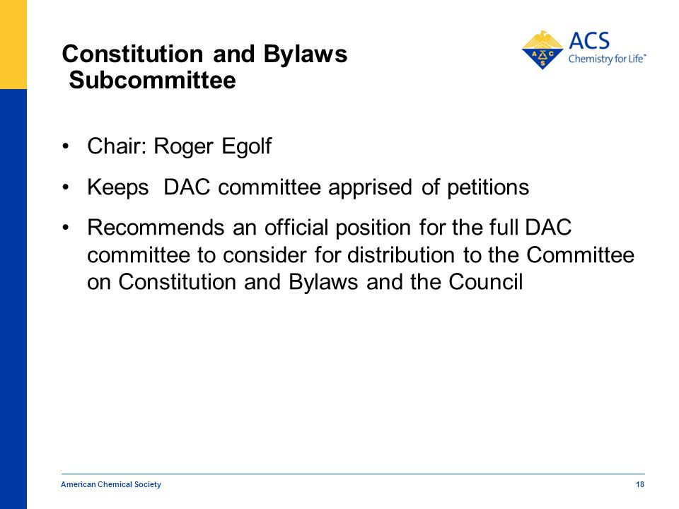 Constitution and Bylaws Subcommittee