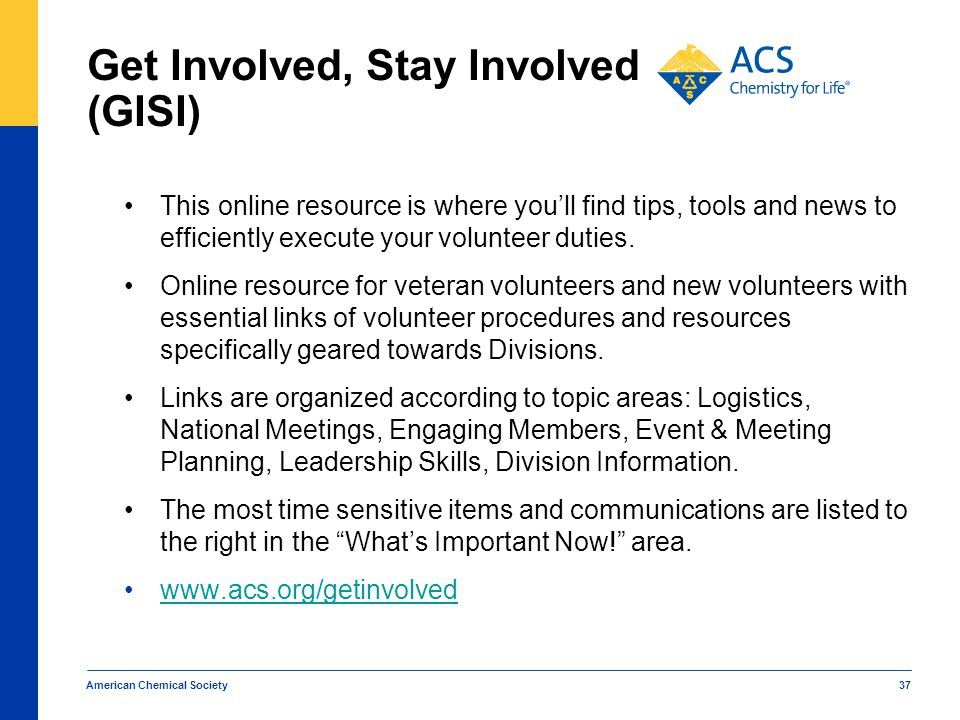 Get Involved, Stay Involved (GISI)