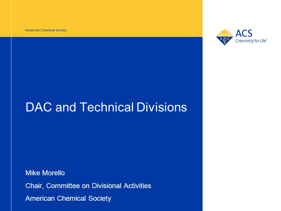 DAC and Technical Divisions