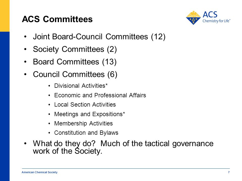ACS Committees Joint Board-Council Committees (12)
