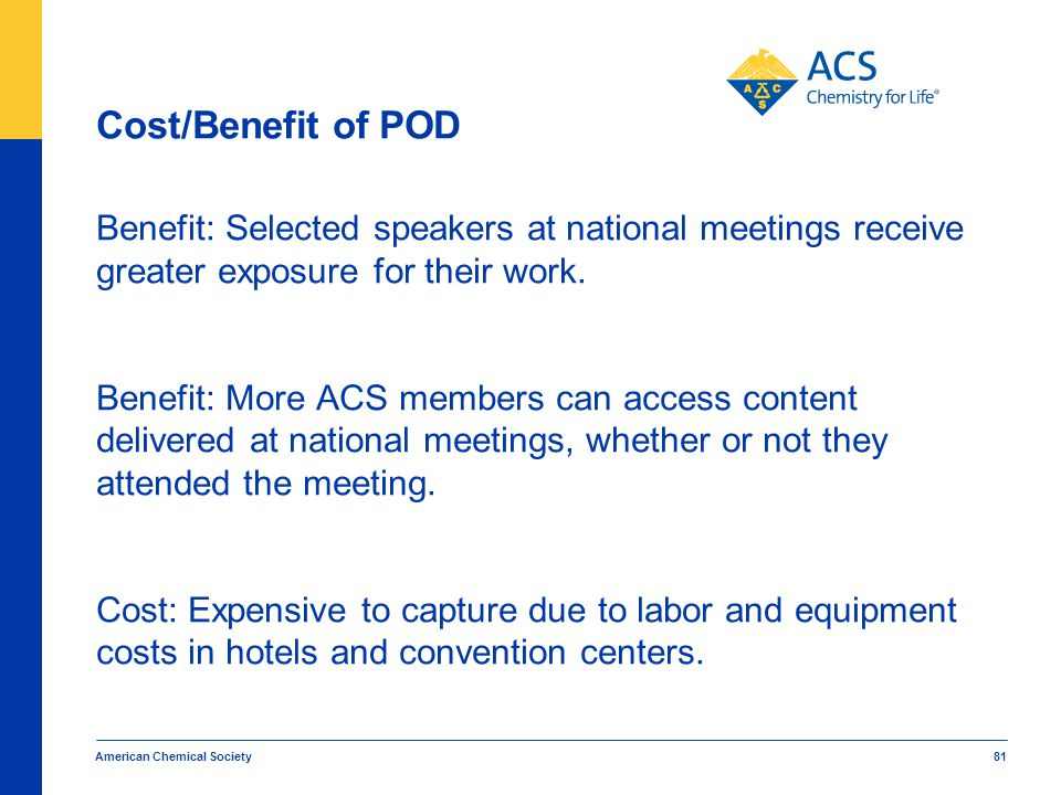 Cost/Benefit of POD