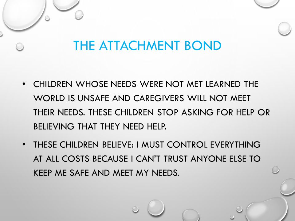 THE ATTACHMENT BOND