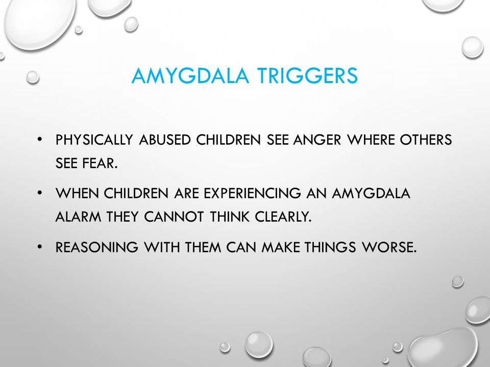 AMYGDALA TRIGGERS Physically abused children see anger where others see fear.