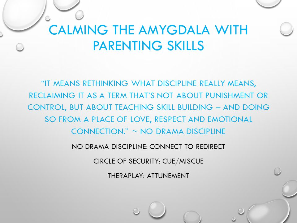 CALMING THE AMYGDALA WITH PARENTING SKILLS