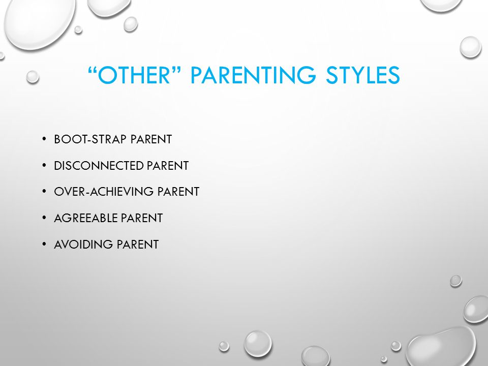 OTHER PARENTING STYLES