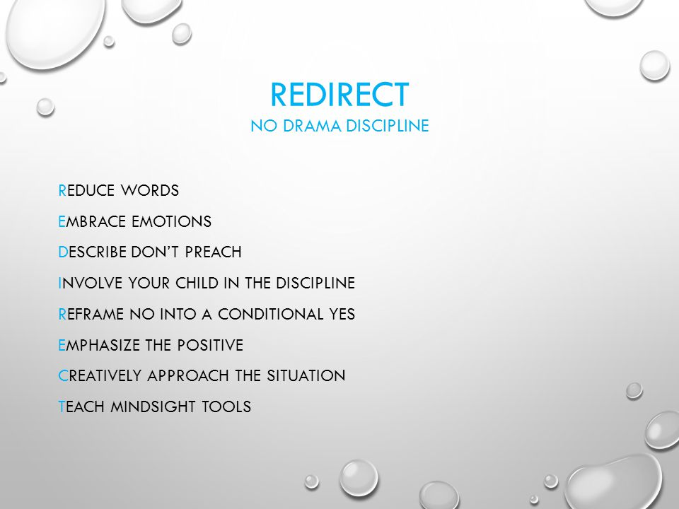 Redirect No Drama Discipline