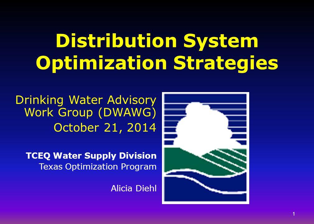 Distribution System Optimization Strategies