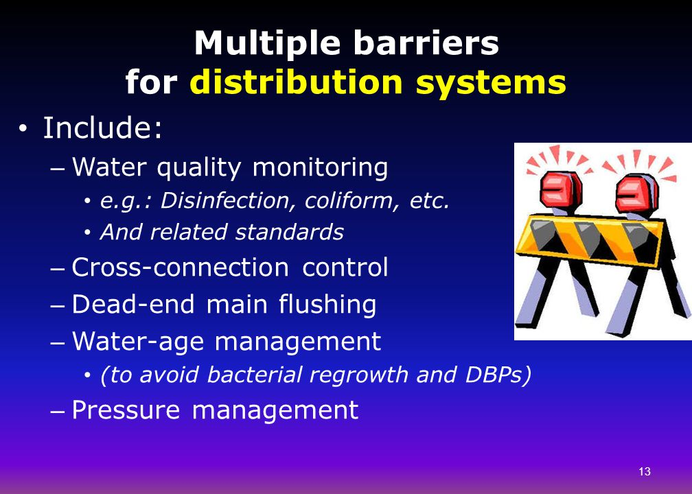 Multiple barriers for distribution systems