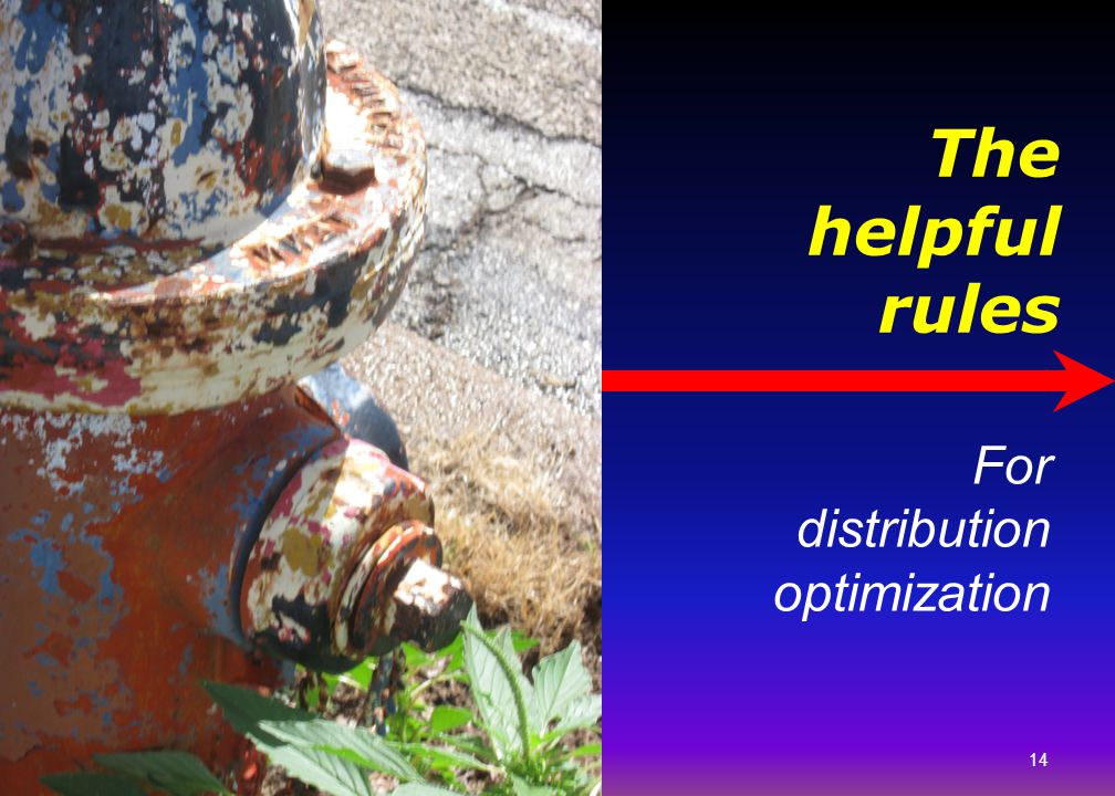 The helpful rules For distribution optimization Picture of pipes.