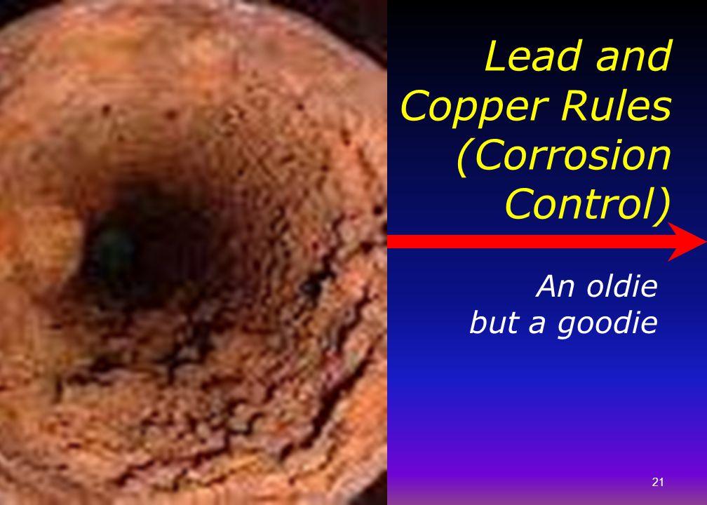 Lead and Copper Rules (Corrosion Control)