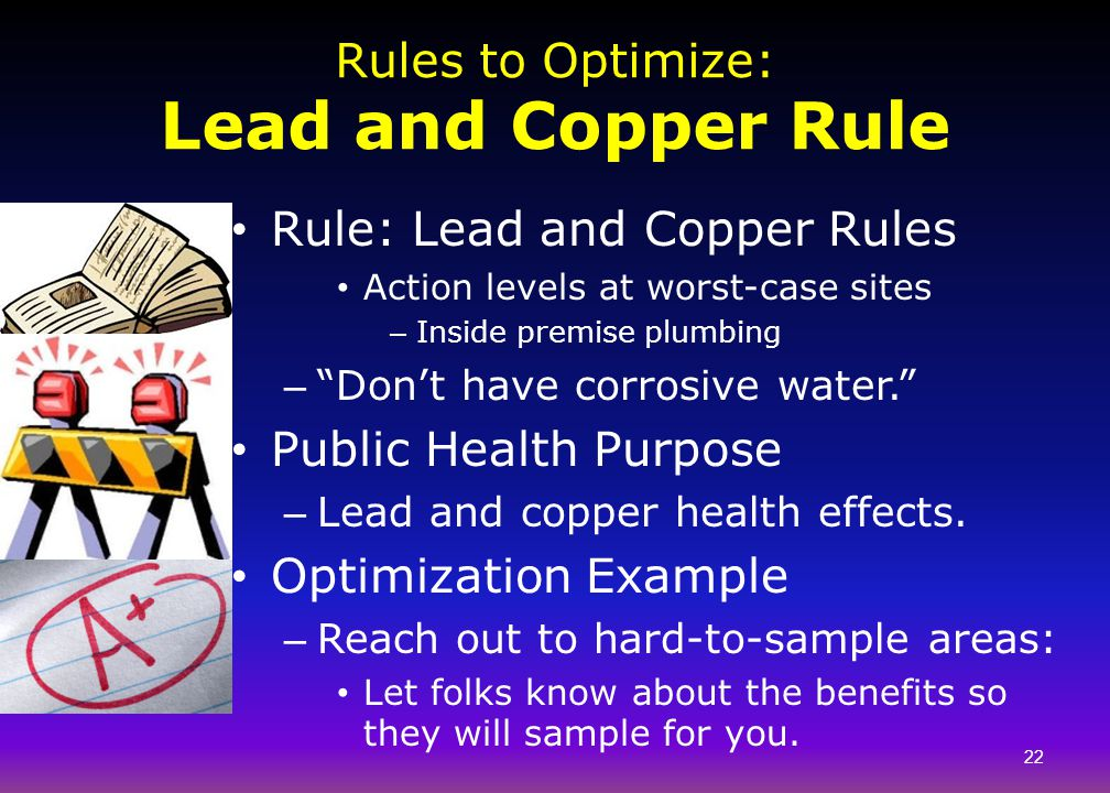Rules to Optimize: Lead and Copper Rule