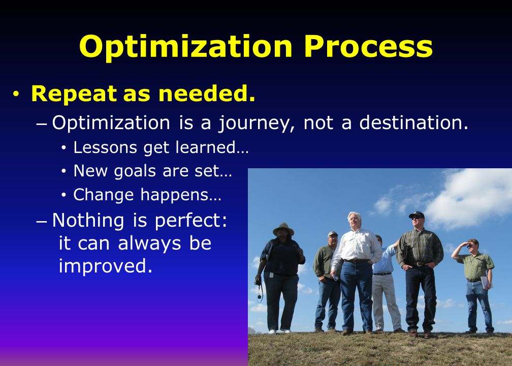 Optimization Process Repeat as needed.