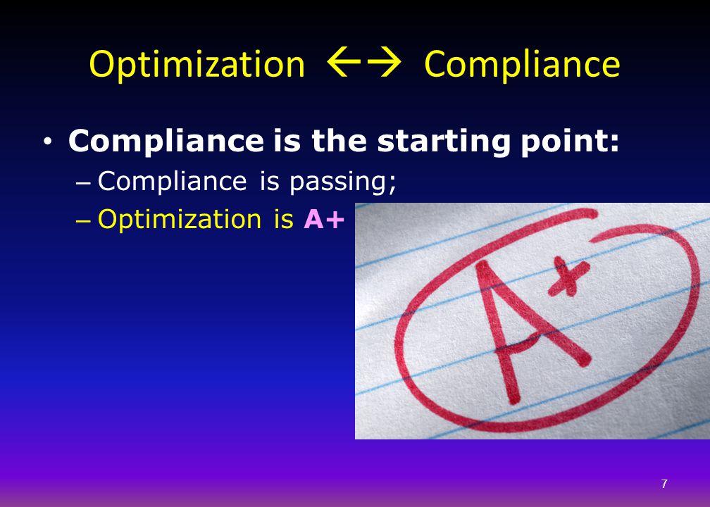 Optimization  Compliance