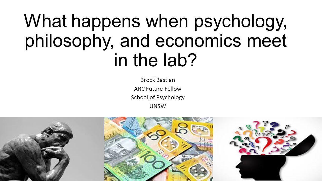 Brock Bastian ARC Future Fellow School of Psychology UNSW