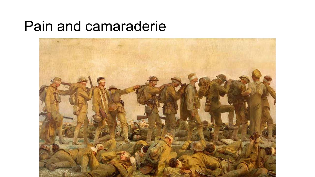 Pain and camaraderie John Singer Sargent – Gassed