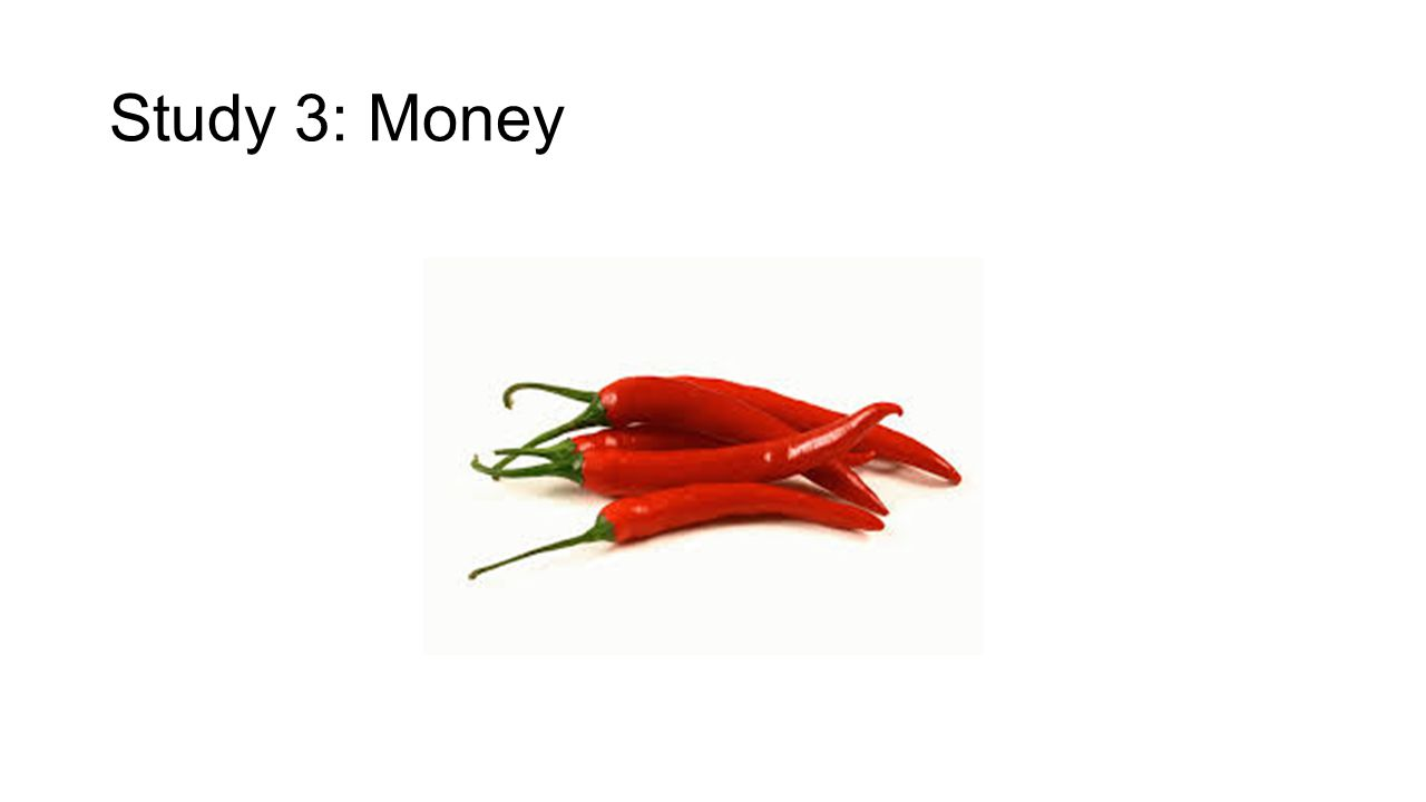 Study 3: Money