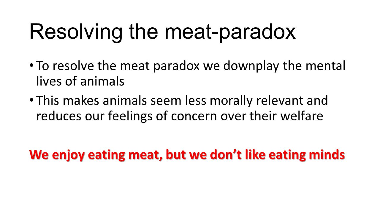 Resolving the meat-paradox