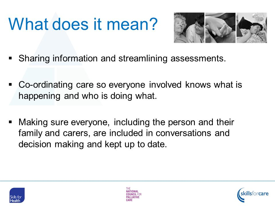 What does it mean Sharing information and streamlining assessments.