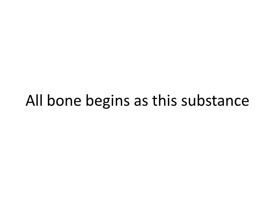 All bone begins as this substance