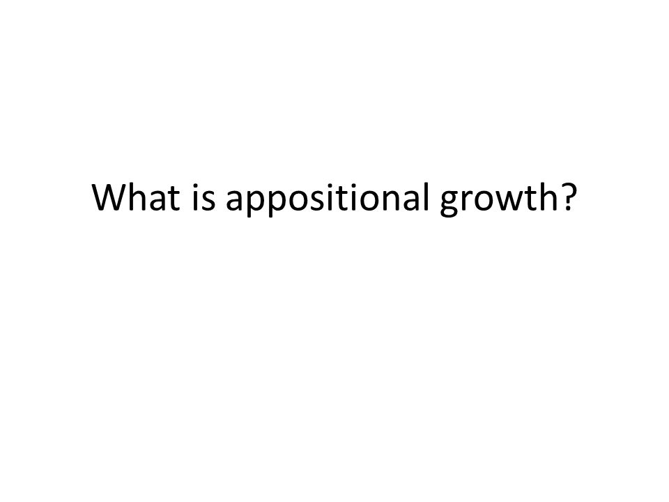 What is appositional growth