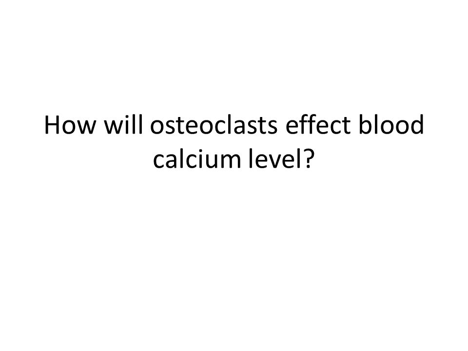 How will osteoclasts effect blood calcium level