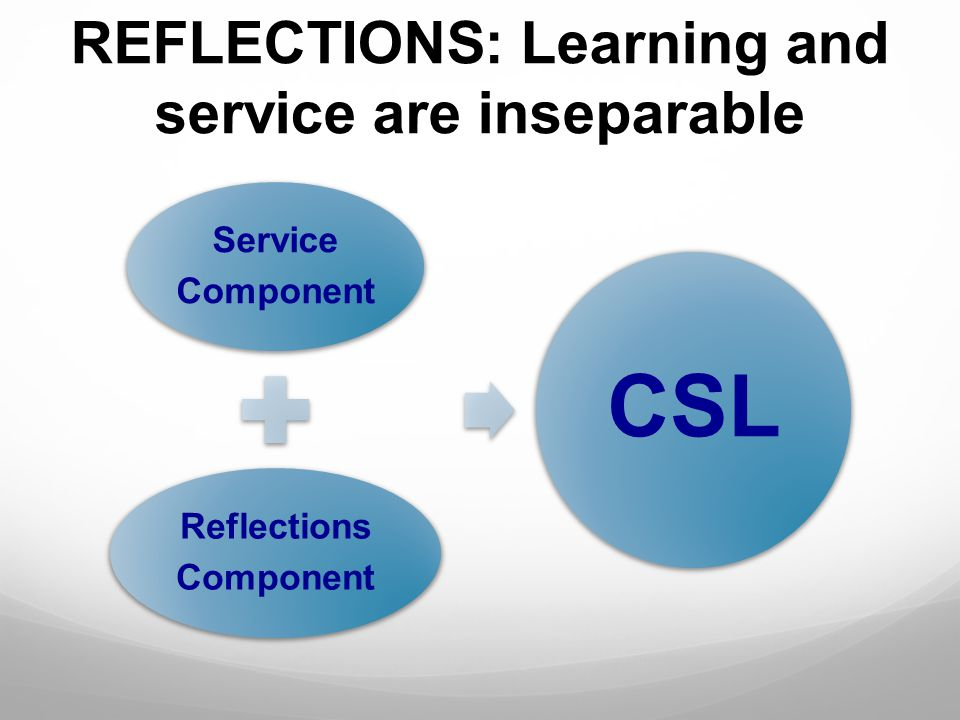 REFLECTIONS: Learning and service are inseparable