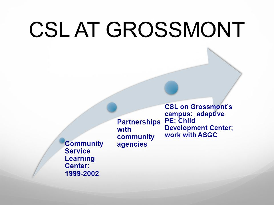 CSL AT GROSSMONT Partnerships with community agencies