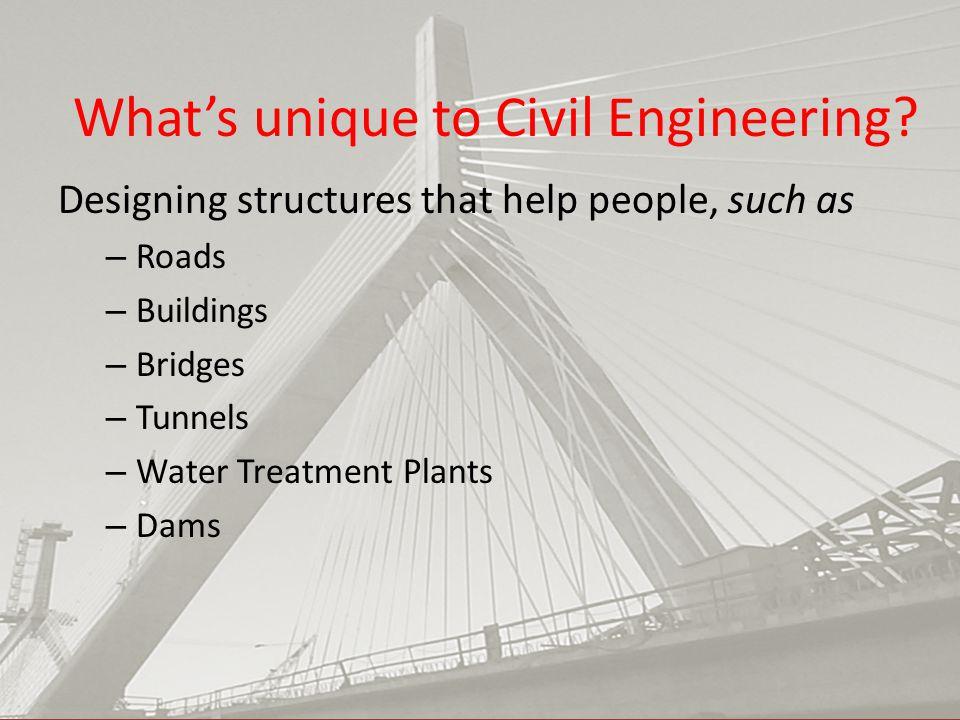 What's unique to Civil Engineering