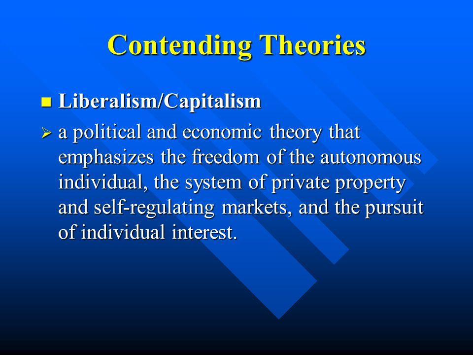 Contending Theories Liberalism/Capitalism