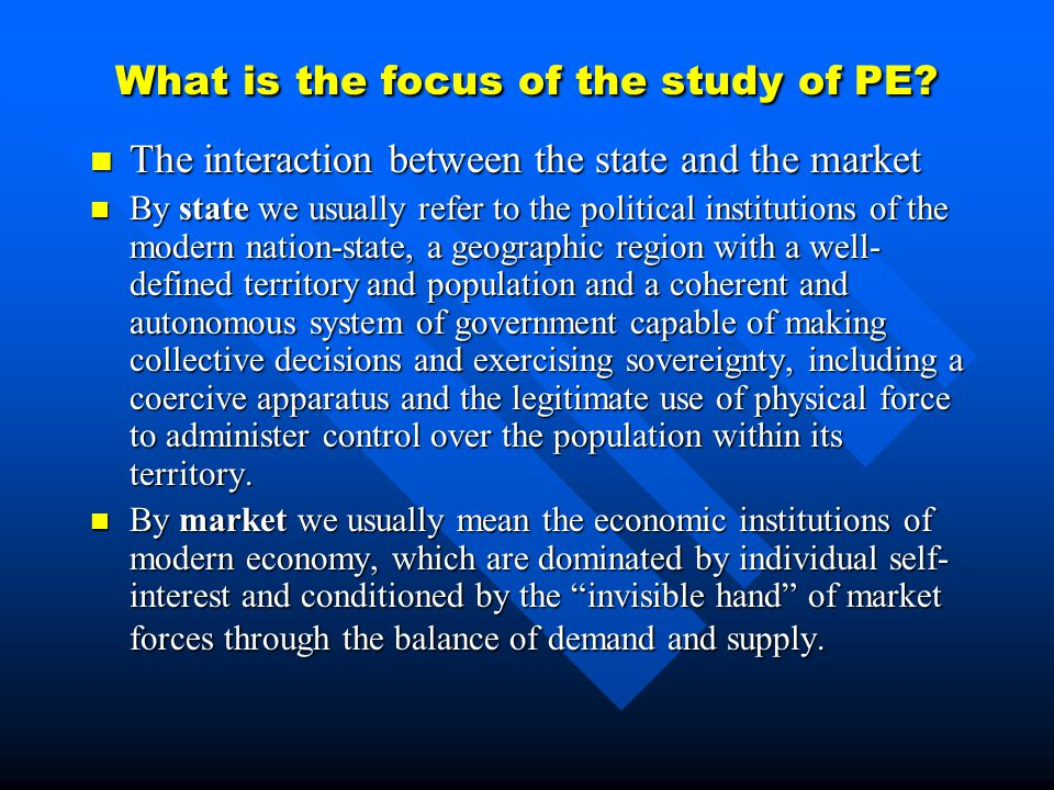 What is the focus of the study of PE